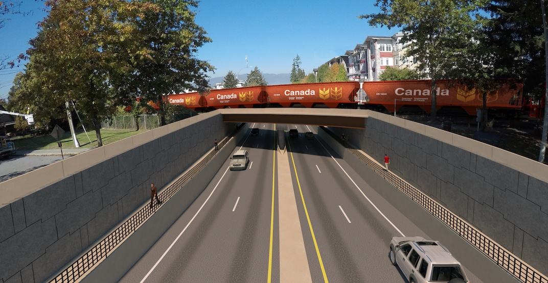 $141M project to separate 2 major roads from Metro Vancouver railway crossings