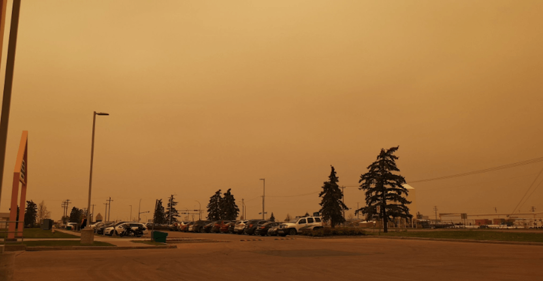 Here's how Albertans have been reacting to the sudden covering of smoke