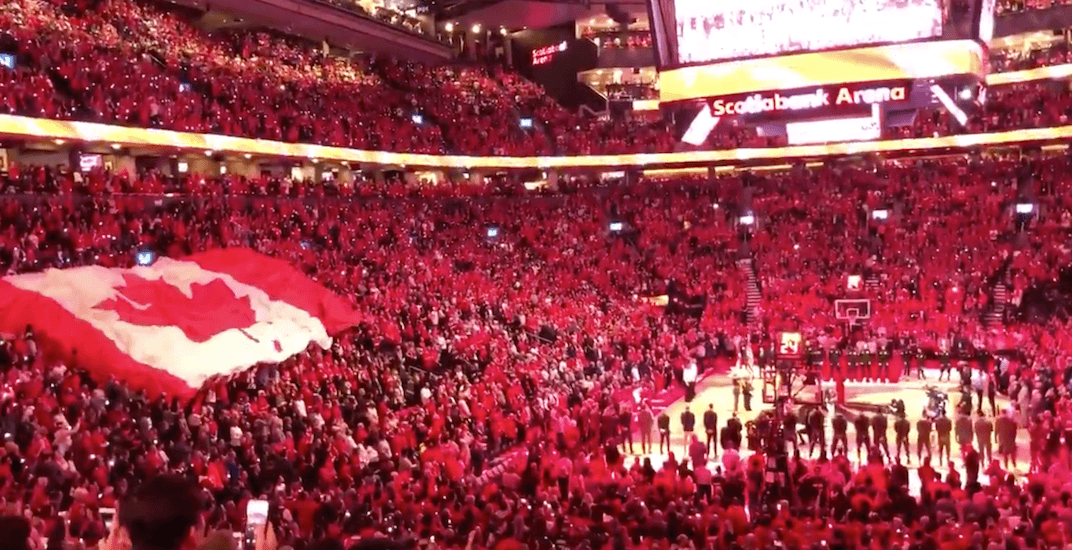 Raptors fans take over singing O Canada from Alessia Cara (VIDEO)