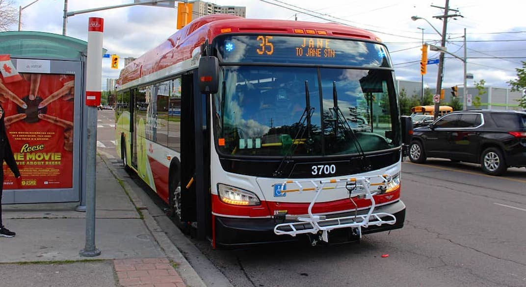 The first of the TTC's all-electric buses roll into service today (PHOTOS)