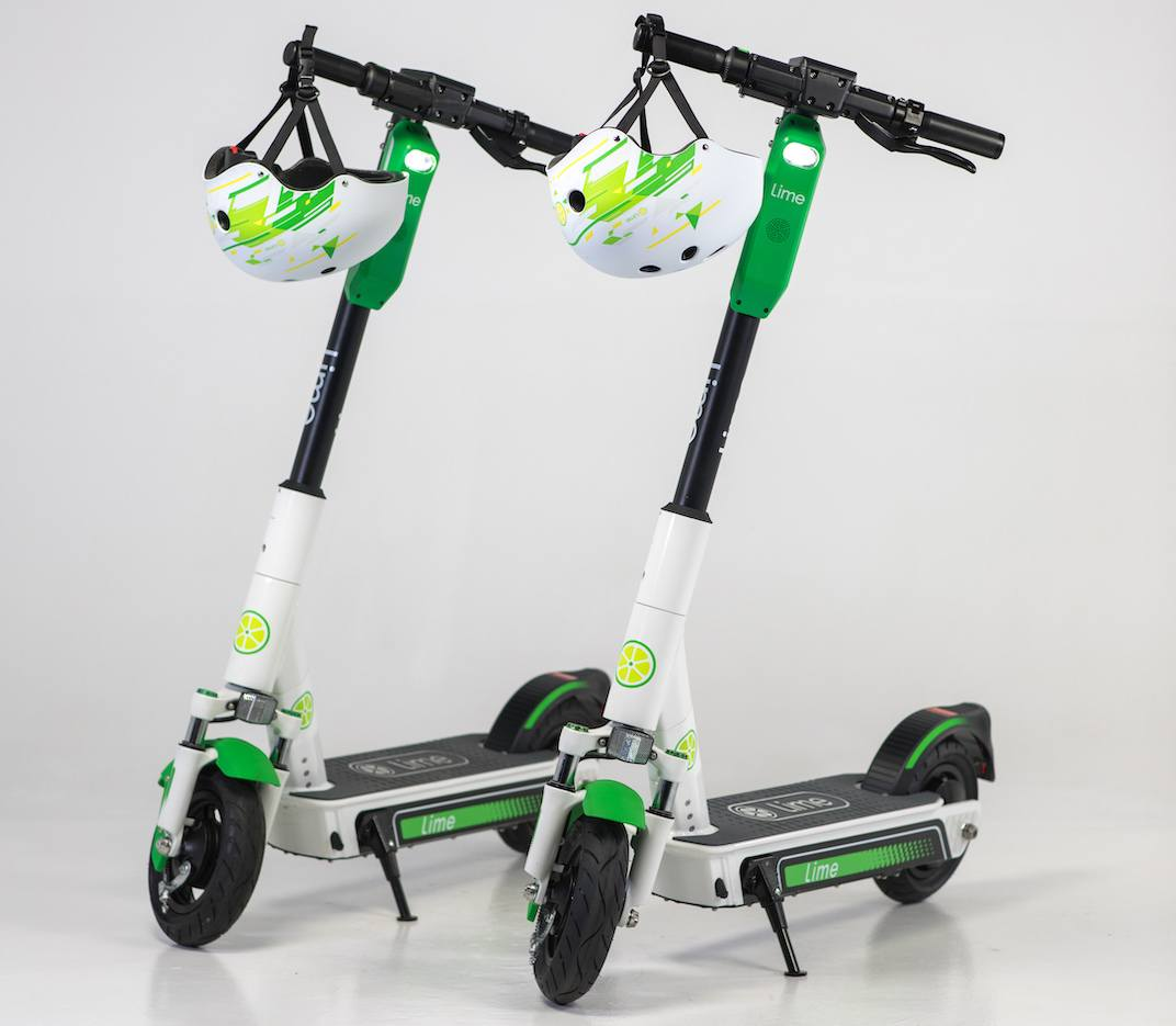 Lime electric scooter share