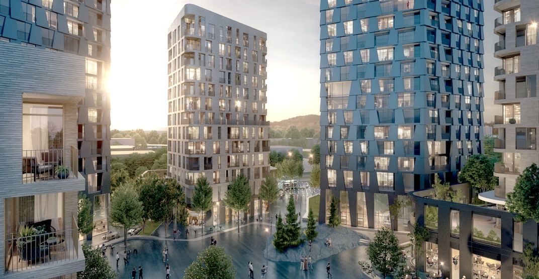 Unique redevelopment with 1,100 homes proposed for Surrey City Centre