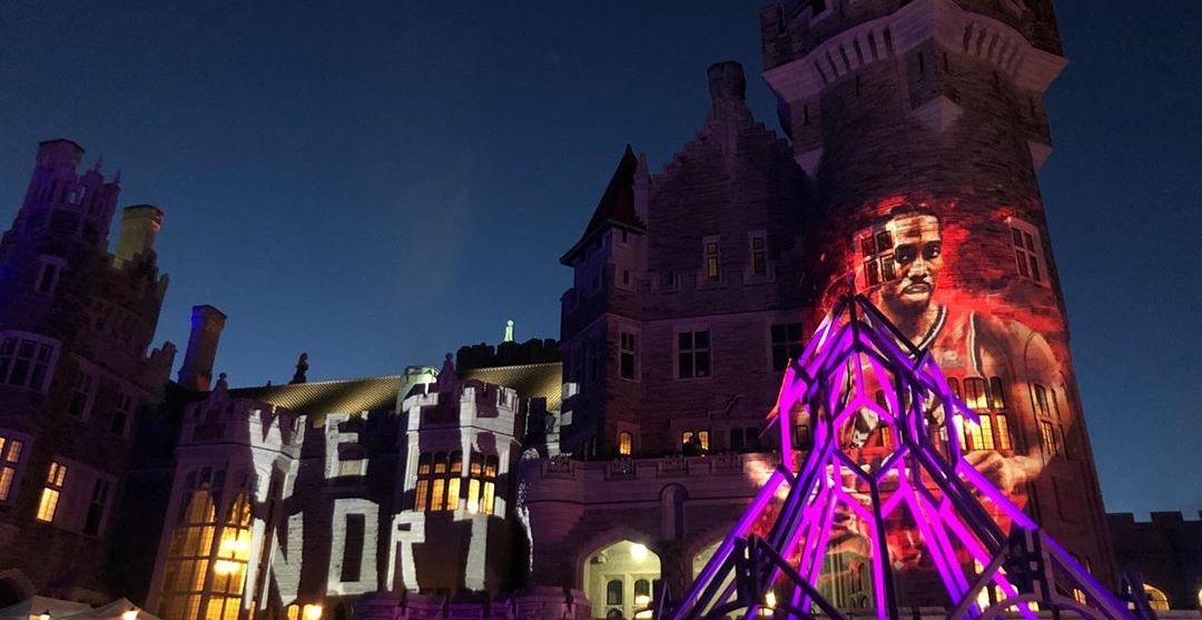 Casa Loma lights up with 'We The North' and Kawhi mural (PHOTO)