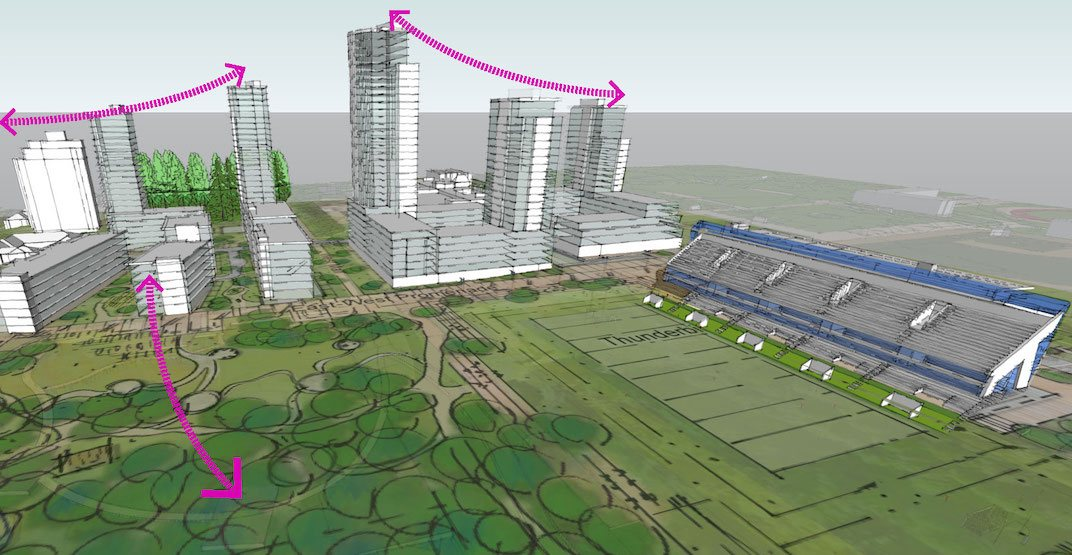 New stadium and neighbourhood for 3,500 residents planned for UBC