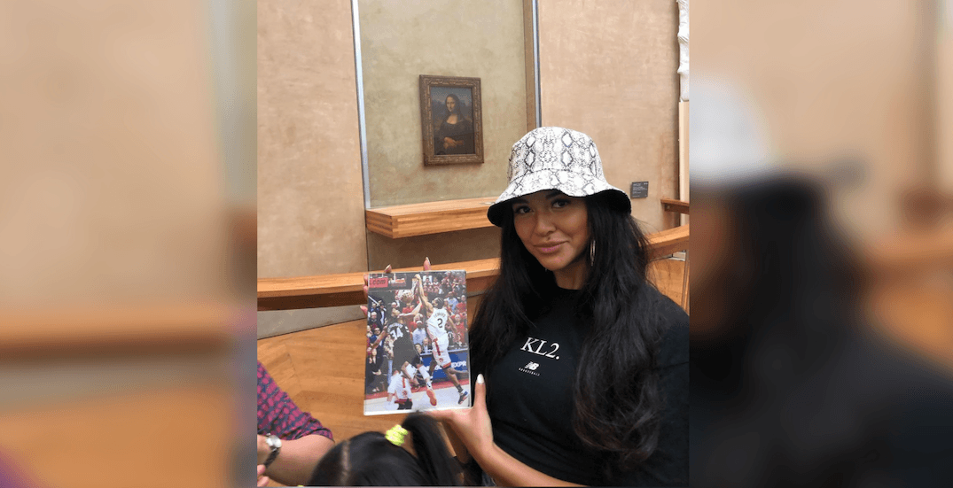 This Raptors fan just placed some Kawhi art in the Louvre (PHOTOS)