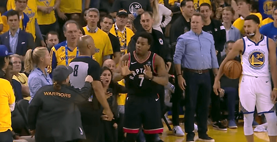 Fan who pushed Raptors' Lowry is a Golden State Warriors part-owner