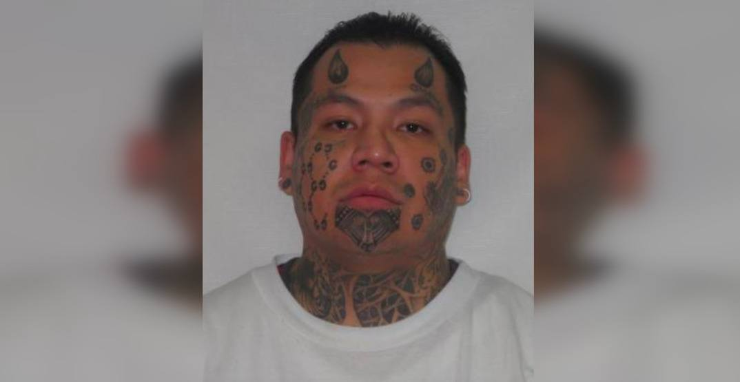 Edmonton police seeking wanted man with devil horns tattooed on head