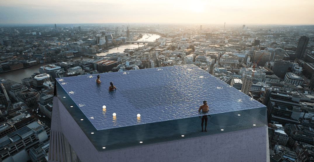 360 degree infinity pool in london. compass pools