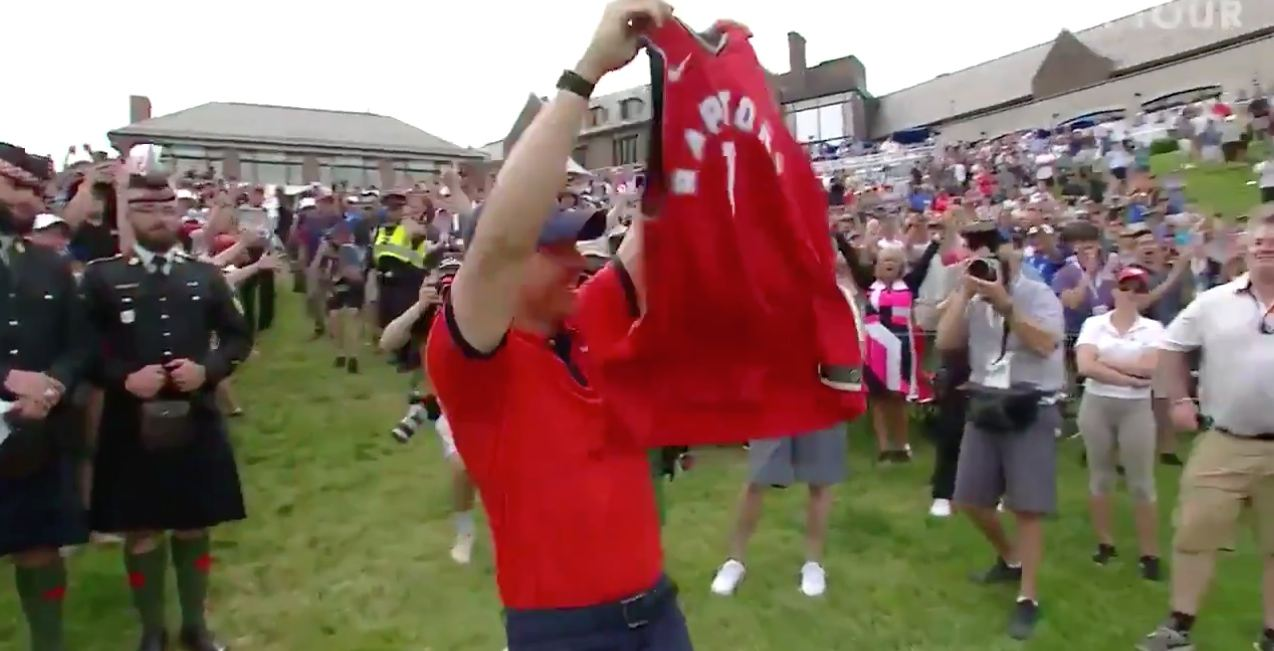 PGA champ Rory McIlroy reps the Raptors at this weekend's Canadian Open (VIDEO)