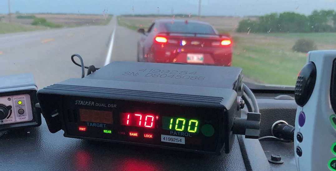 Teen caught speeding in Camaro fined for going 170 km/h in a 100 km/h