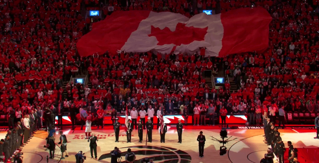 Raptors fans singing O Canada before NBA Finals game will give you chills (VIDEO)