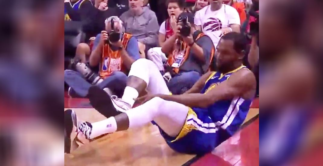 Injured Durant leaves NBA Finals game on crutches with achilles injury