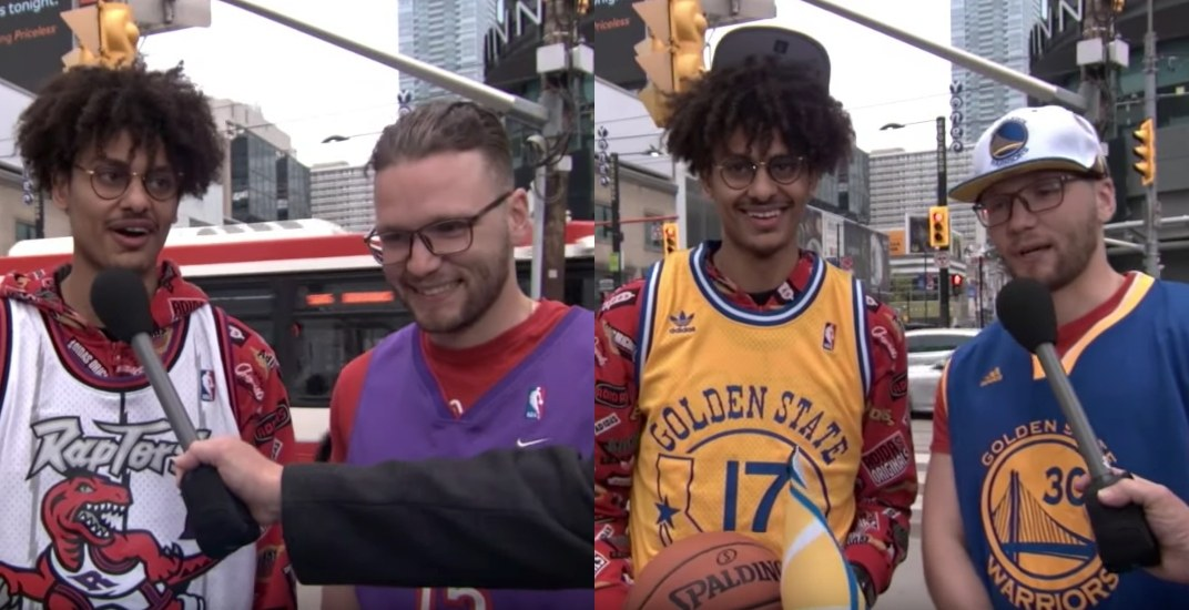 Jimmy Kimmel tricks Raptors fans into supporting the Golden State Warriors (VIDEO)