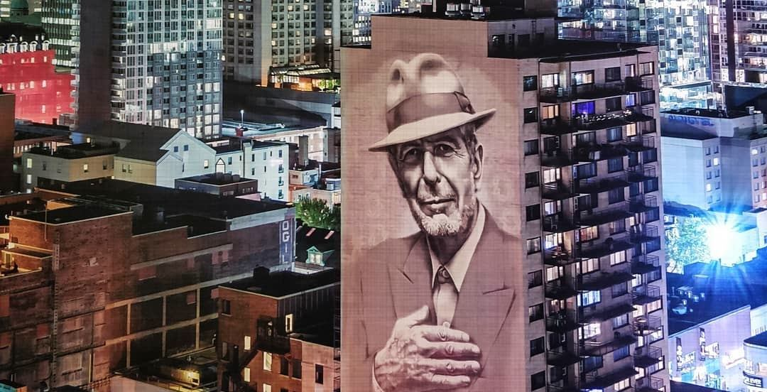 Crescent Street's Leonard Cohen mural to be lit up permanently starting Wednesday