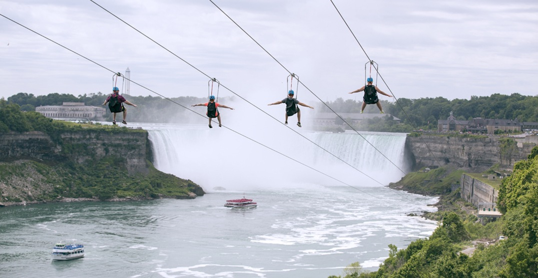 The Niagara Falls zipline is back for the summer (PHOTOS)
