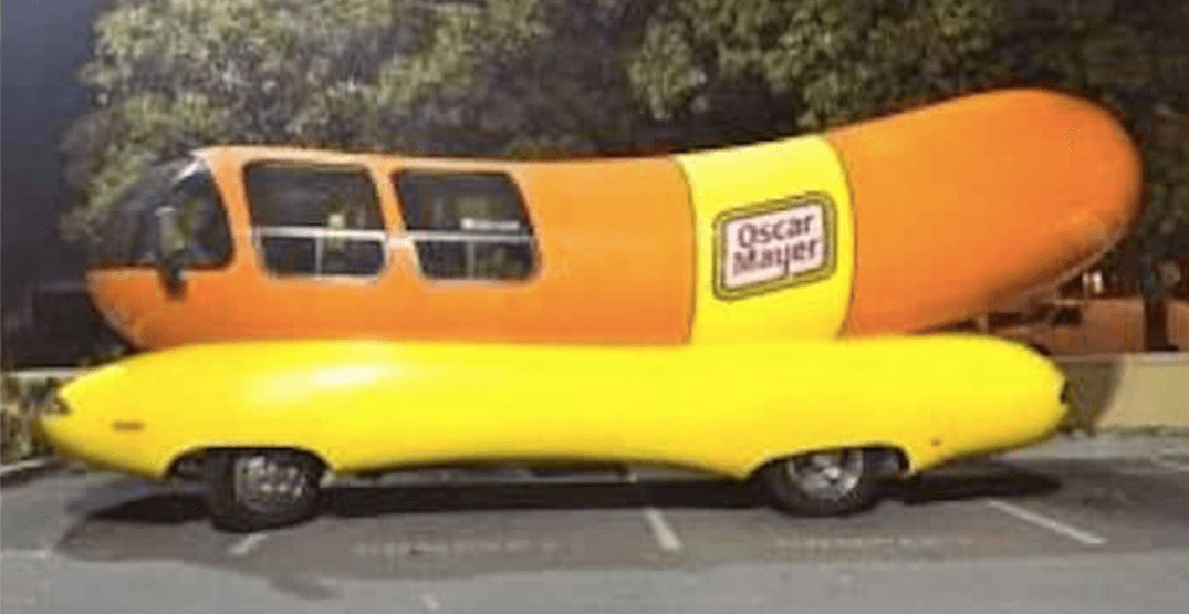 This 'wiener mobile' in the Lower Mainland can now be yours