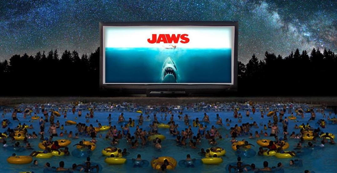 This on-the-water screening of Jaws near Toronto is the stuff of nightmares