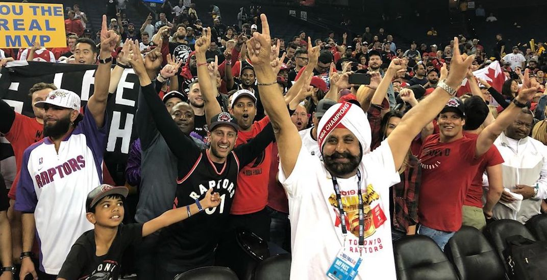 How Superfan Nav Bhatia reacted to Raptors winning NBA championship (VIDEO)