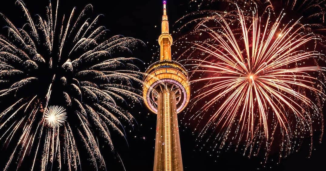 CN Tower was lit in gold with 'We The North' written on it after Raptors historic win (PHOTOS)