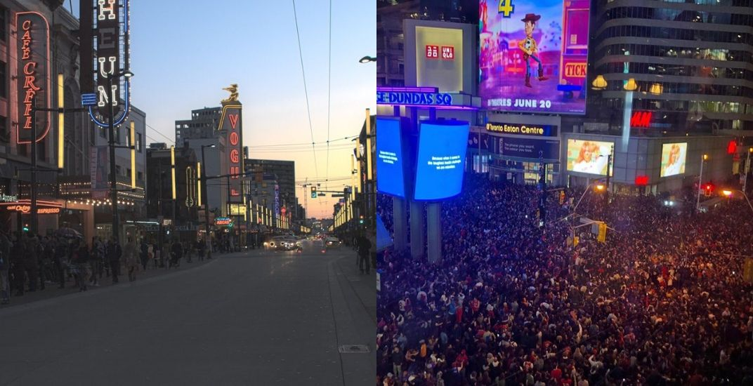 What Vancouver and Toronto looked like when the Raptors won the NBA Finals