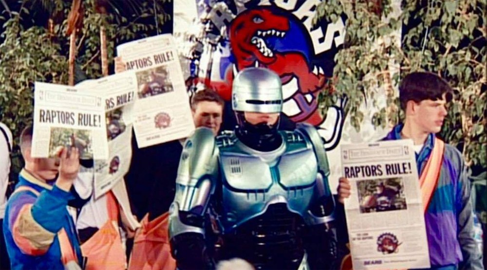 Why RoboCop was at the Toronto Raptors 1994 team reveal