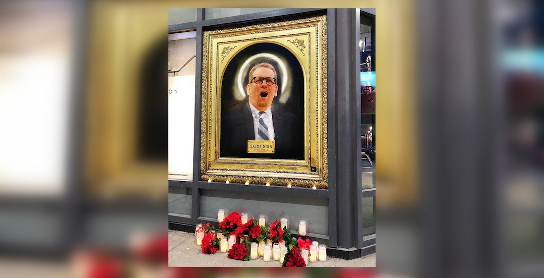 Shrine to Nick Nurse pops up at downtown Toronto intersection