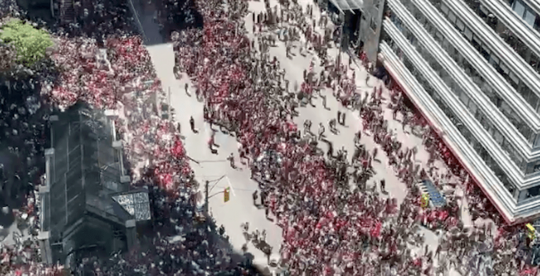 Someone made an epic timelapse of the Toronto Raptors parade (VIDEO)