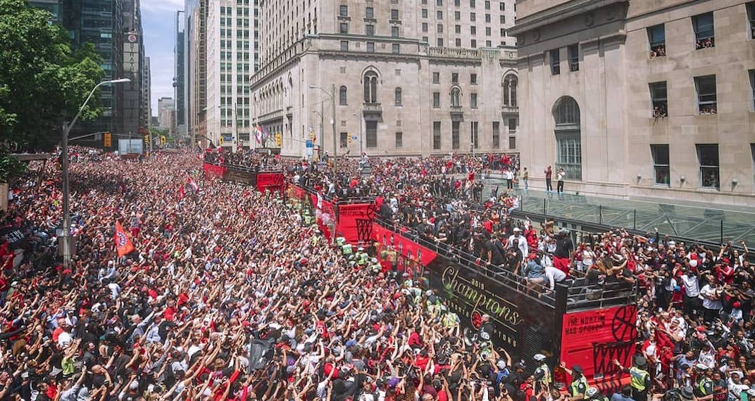 Conservative estimates say more than 1M fans attended the Raptors' championship parade