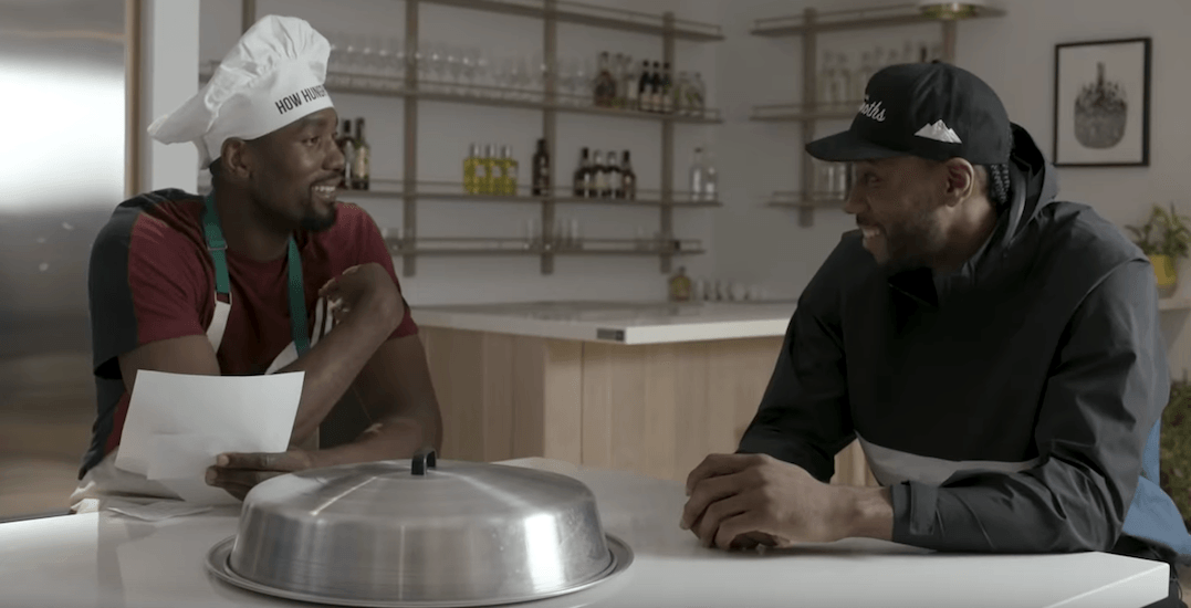 Serge Ibaka asking fellow Raptors about their diet is food and friendship goals (VIDEO)