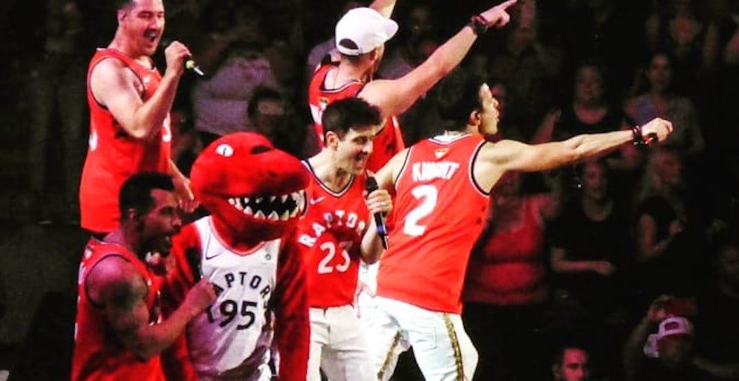 New Kids on The Block wore Raptors jerseys at last night's Toronto concert (PHOTOS)