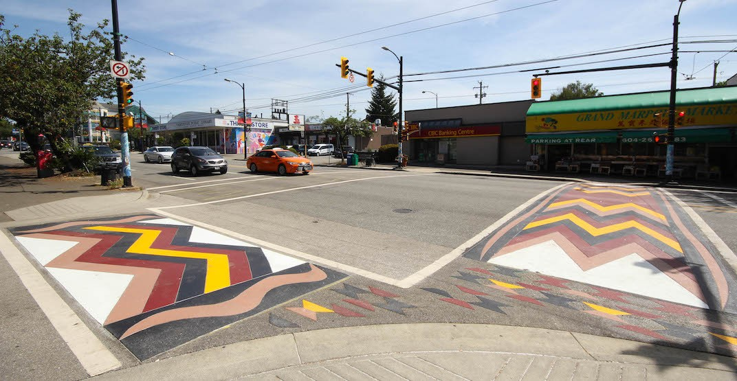 First Nations-designed crosswalk installed on Granville Street (PHOTOS)