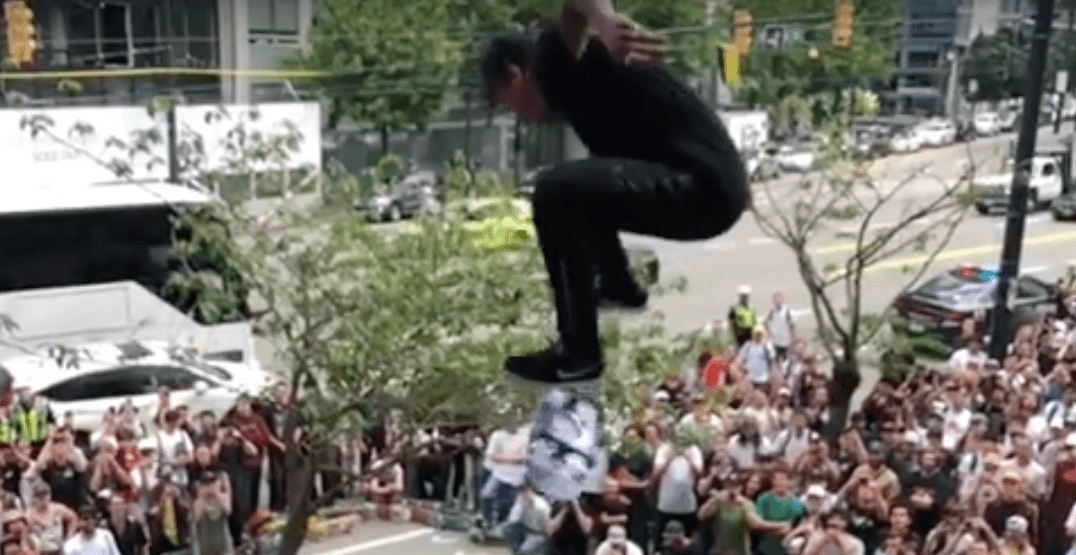 1,000+ participants took over downtown Vancouver for Go Skateboarding Day (VIDEO)