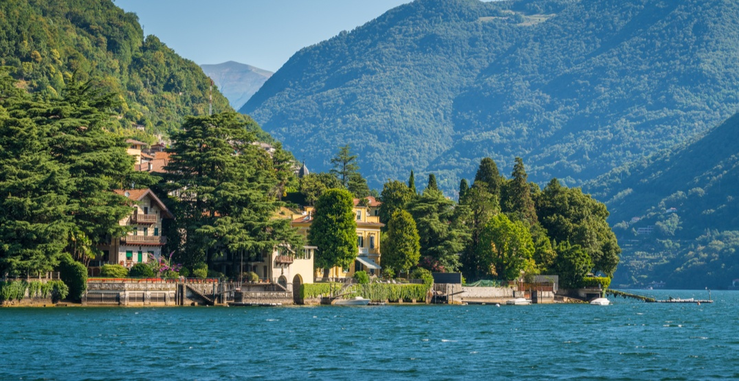 The Clooneys are currently hosting the Obamas at their villa on Lake Como