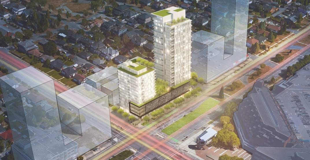 Two towers proposed for southeast corner of Cambie and 41st Avenue