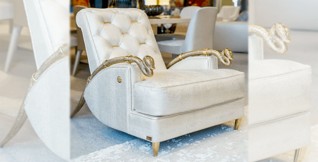 Pair of chairs with gold serpent arms worth $80k stolen from Vancouver store