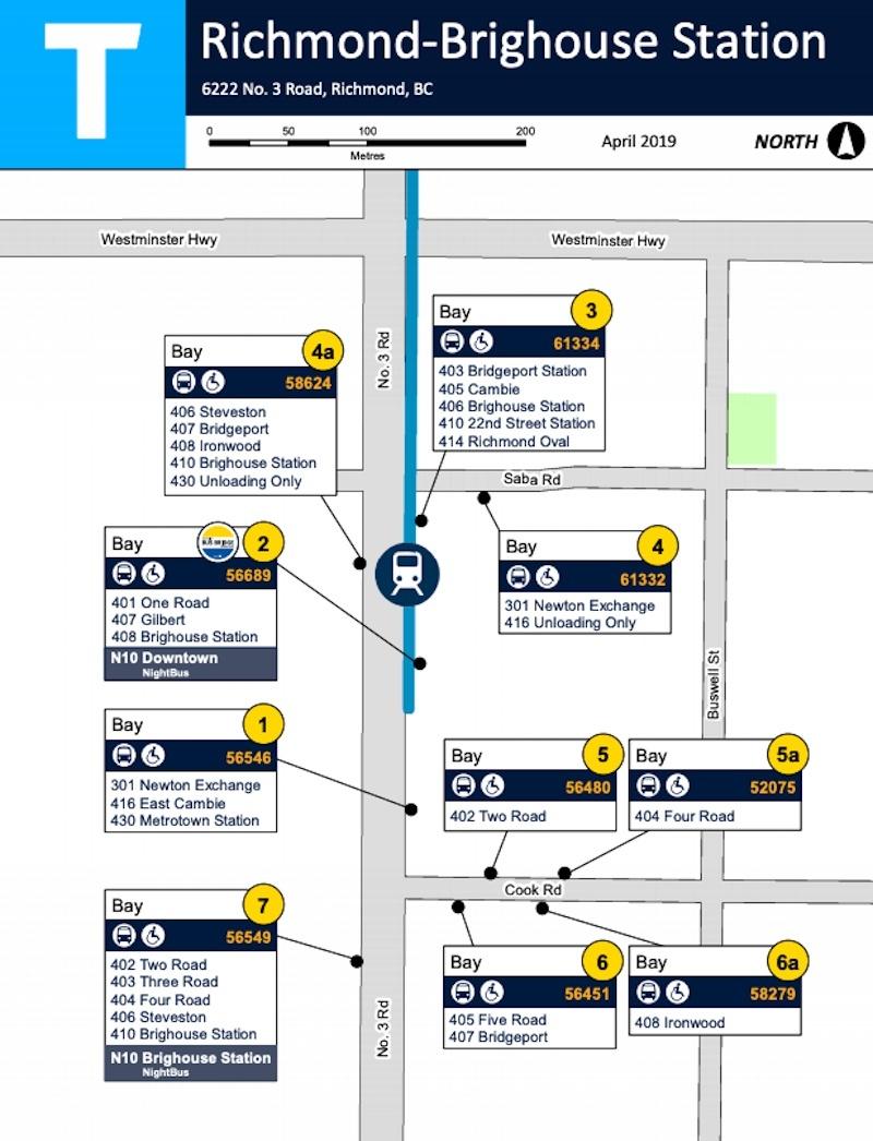 TransLink Richmond-Brighouse Station bus bays