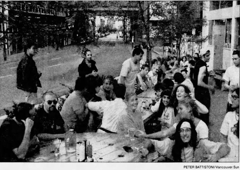 The Cambie patio. Sun 22 July 1995.