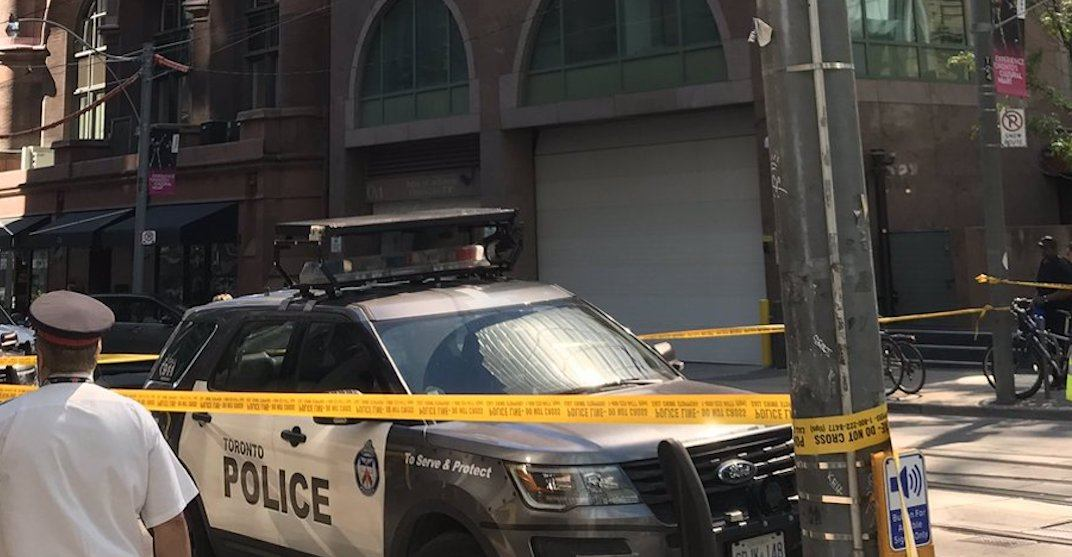 Female pedestrian dead after being struck by truck in downtown Toronto