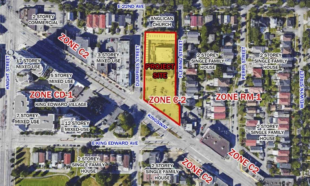 13-storey tower with homes and retail proposed for Kingsway