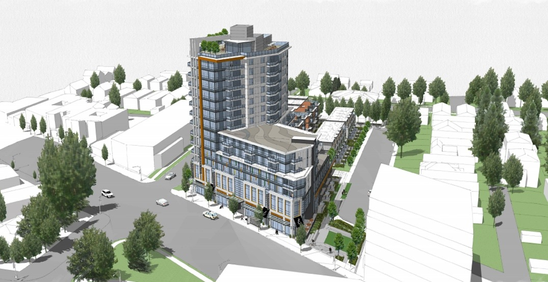 13-storey tower with homes and retail proposed for Kingsway Rona site