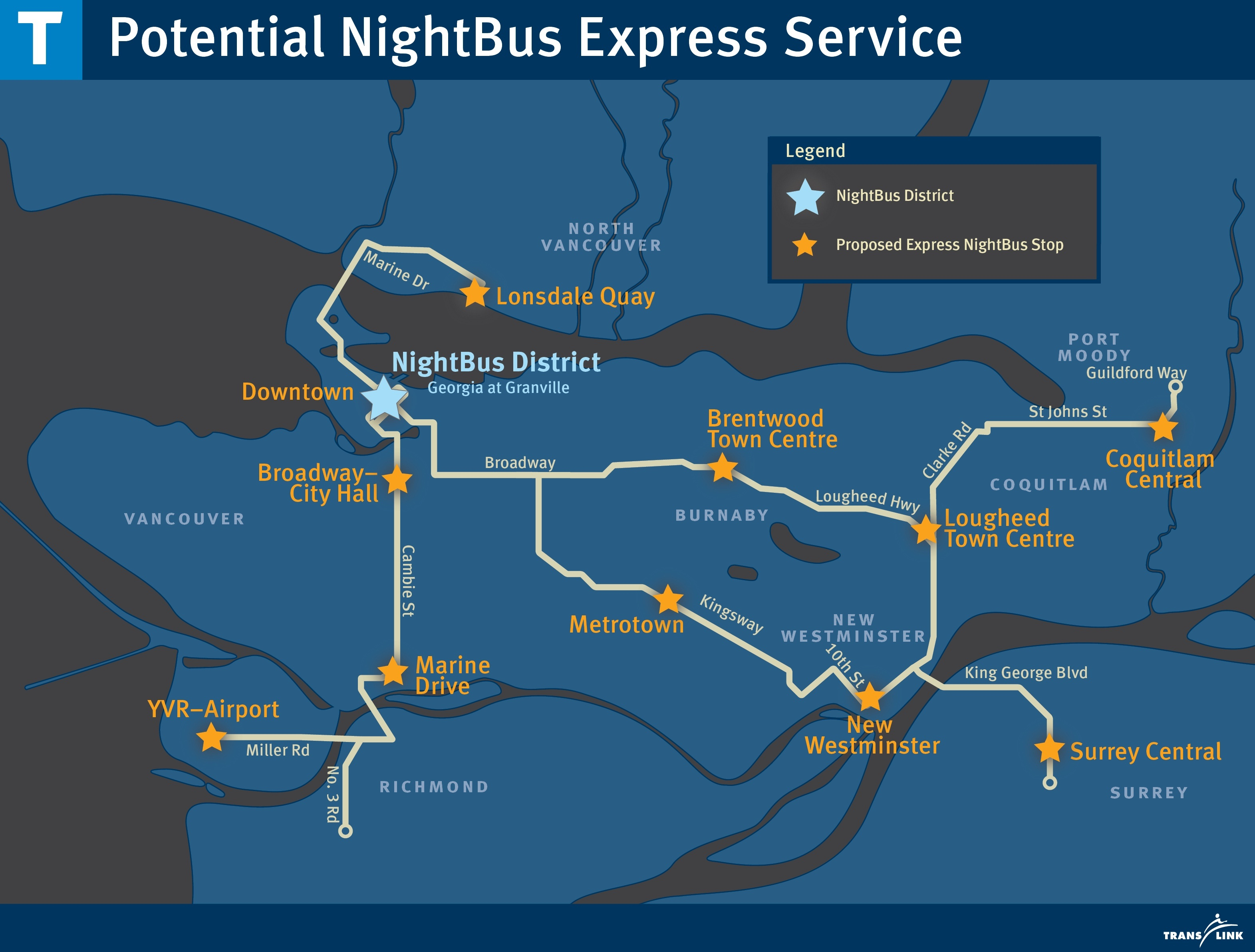 TransLink NightBus Express Bus Service