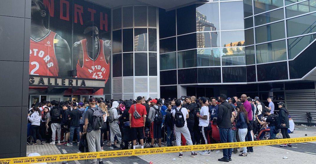 Fans camped out overnight to get Raptors and OVO championship gear (PHOTOS)