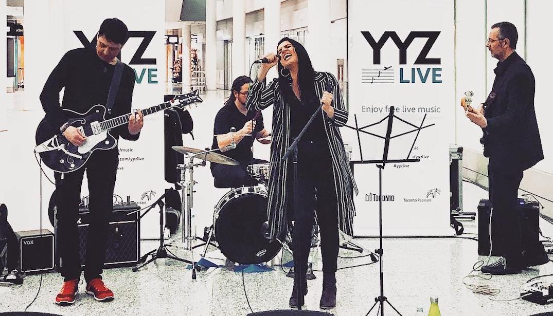 You can see live music at Toronto Pearson Airport all summer long