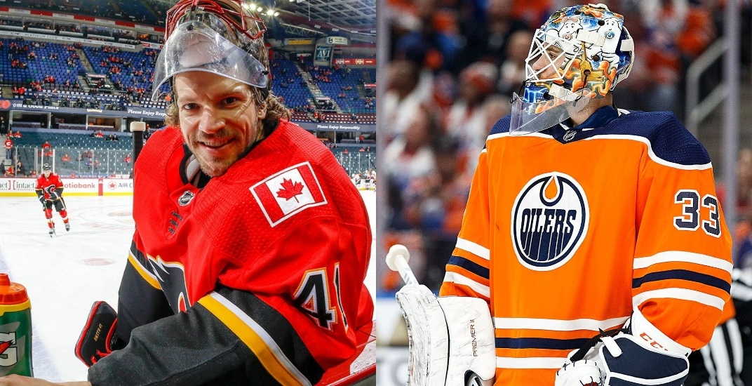 Flames and Oilers swap former No. 1 goalies in free agency