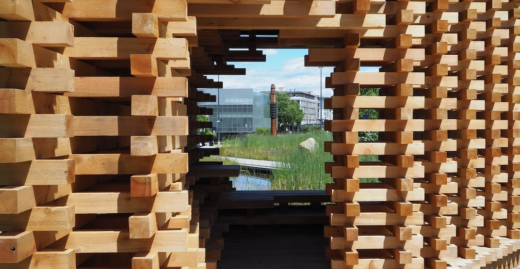 Showcase wood pavilion built at UBC's Martha Piper Plaza Fountain (PHOTOS)