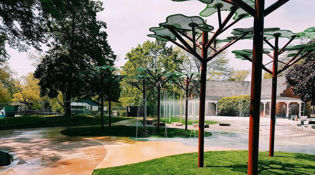 The Toronto Islands just opened an awesome new splash pad for the summer