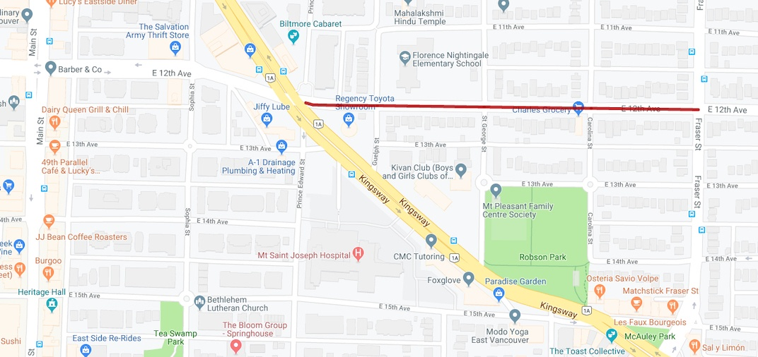East 12th Avenue 2019 closure