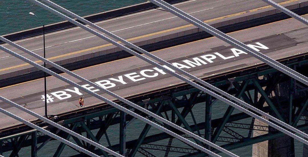 A hashtag has been set up to say goodbye to the old Champlain Bridge (PHOTOS)