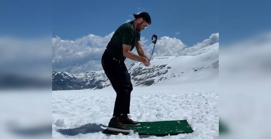 NBA star Kevin Love goes golfing on top of Whistler glacier (VIDEO)