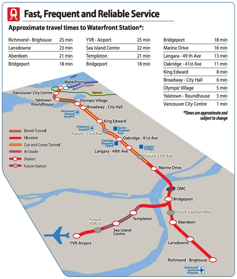 Map Of Canada Line Vancouver.These Are The Proposed Station Names For Skytrain S Broadway